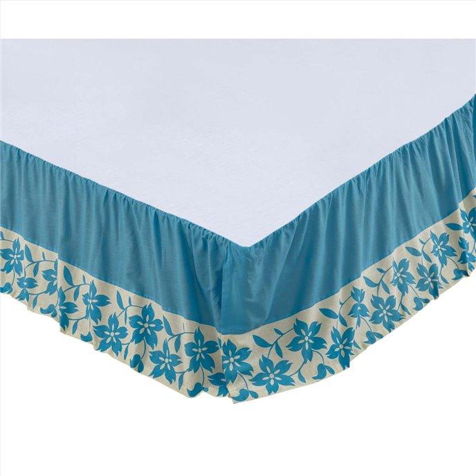 Briar Azure King Bed Skirt 78x80x16 Thumbnail