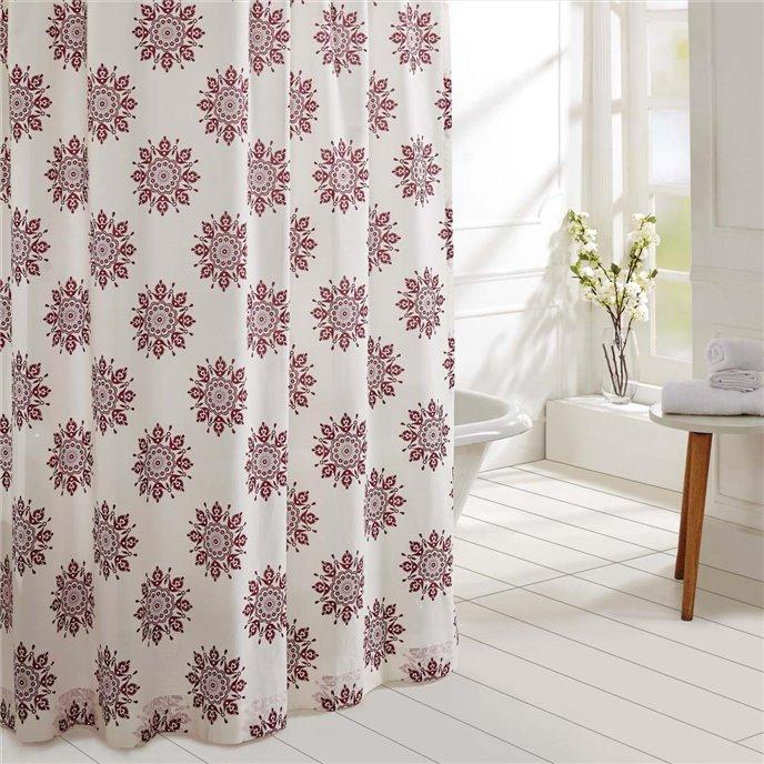 Mariposa Fuchsia Shower Curtain 72x72 Thumbnail