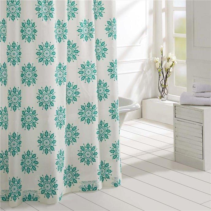 Mariposa Turquoise Shower Curtain 72x72 Thumbnail