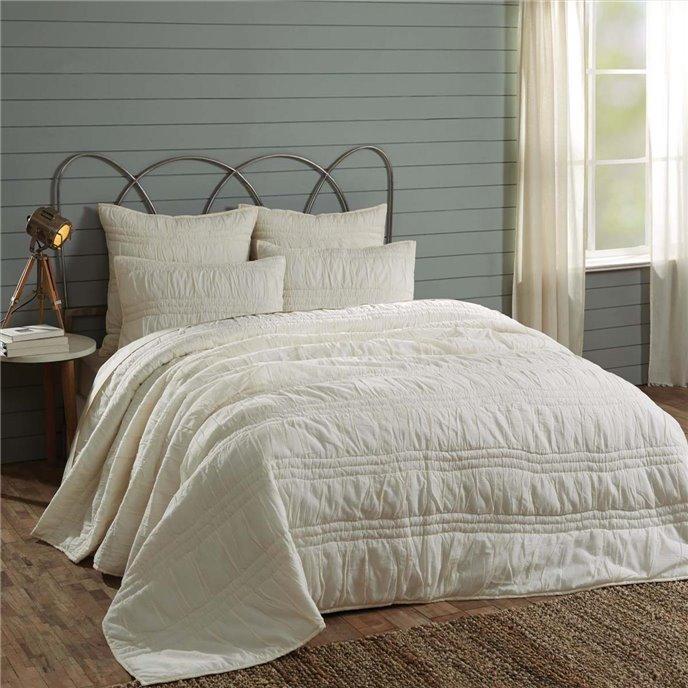 Natasha Pearl White King Set; Quilt 105Wx95L-2 Shams 21x37 Thumbnail