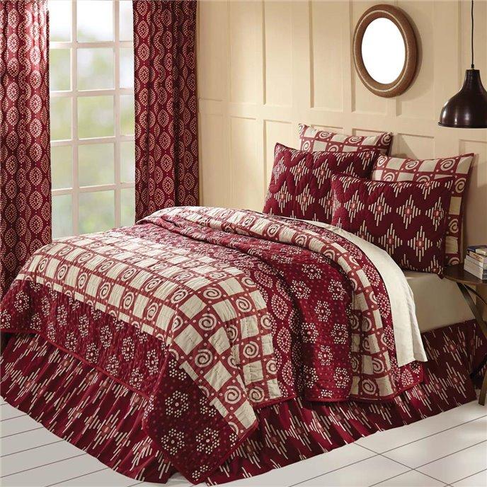 Paloma Crimson Queen Quilt 90Wx90L Thumbnail