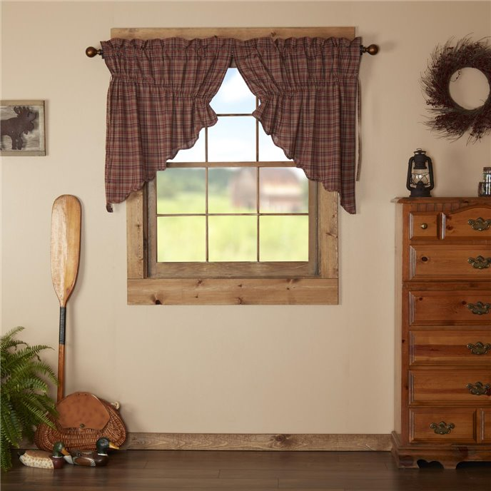 Parker Scalloped Prairie Swag Set of 2 36x36x18 Thumbnail