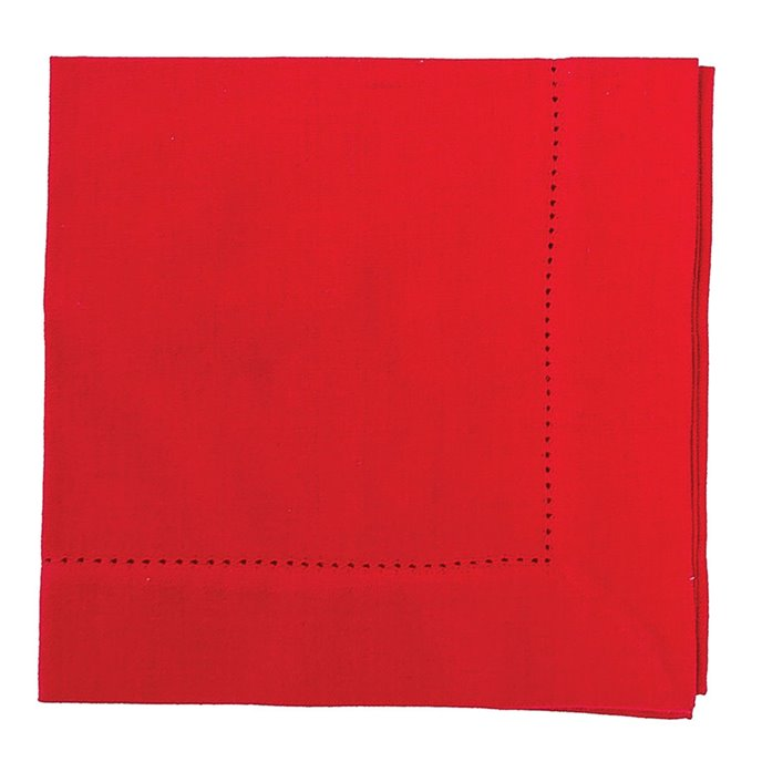 Crimson Hemstitch Napkin (woven) Thumbnail