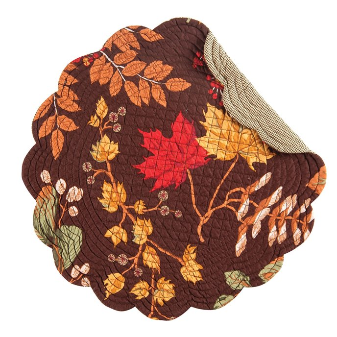Amison Round Quilted Placemat Thumbnail