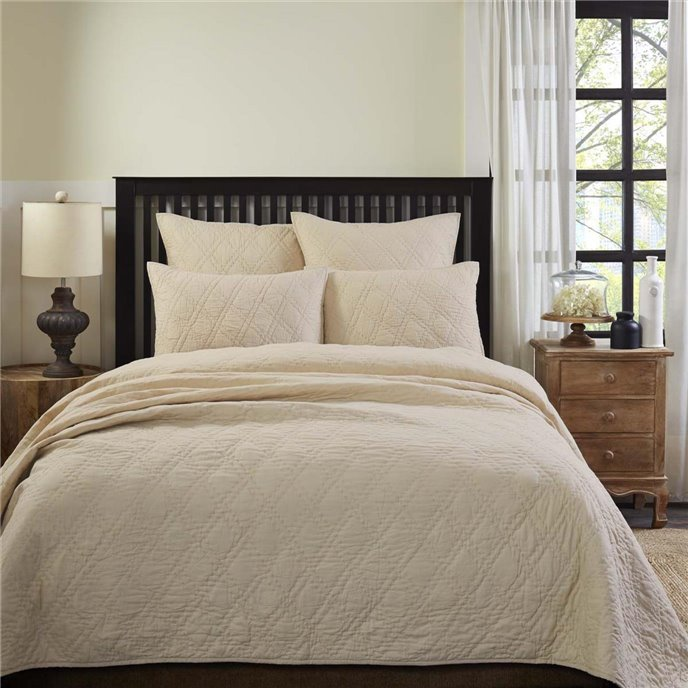Casey Taupe King Quilt 108Wx92L Thumbnail