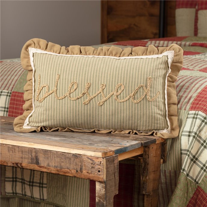Prairie Winds Blessed Pillow 14x22 Thumbnail