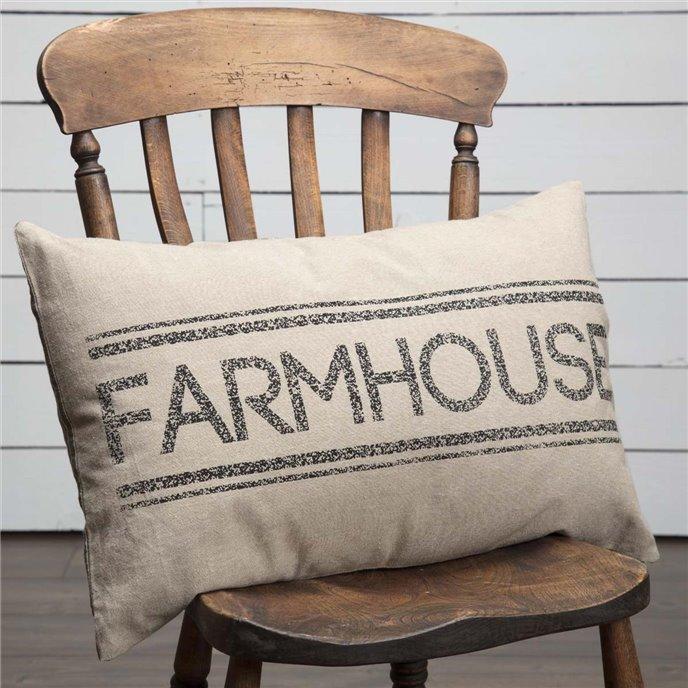 Sawyer Mill Charcoal Farmhouse Pillow 14x22 Thumbnail