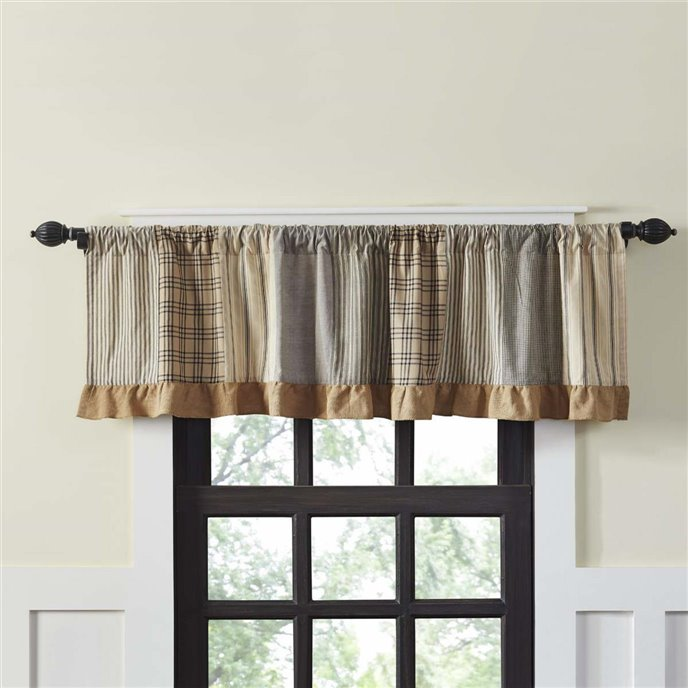 Sawyer Mill Charcoal Patchwork Valance 19x72 Thumbnail