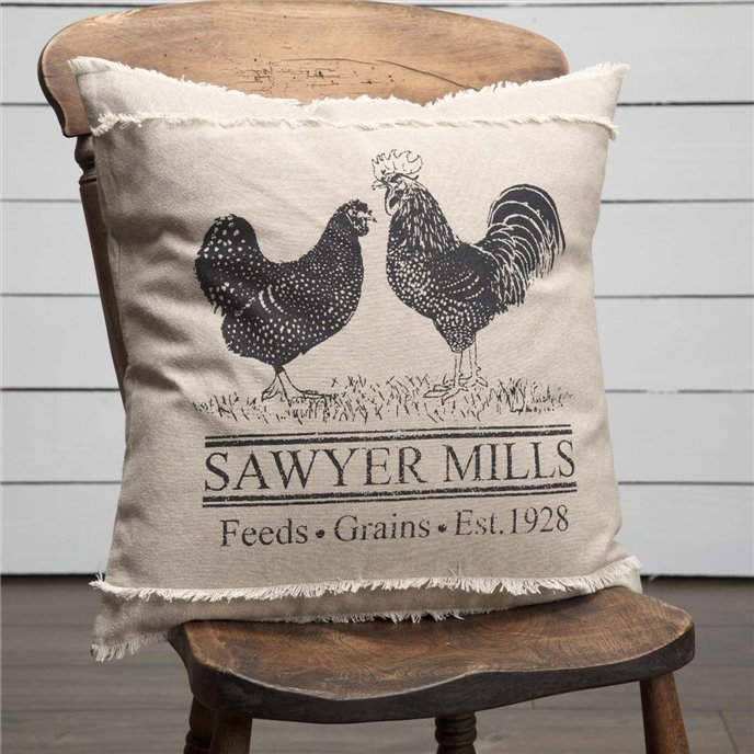 Sawyer Mill Charcoal Poultry Pillow 18x18 Thumbnail