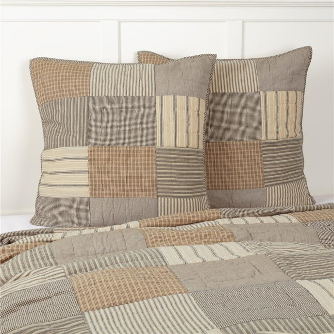 Sawyer Mill Charcoal Quilted Euro Sham 26x26 Thumbnail