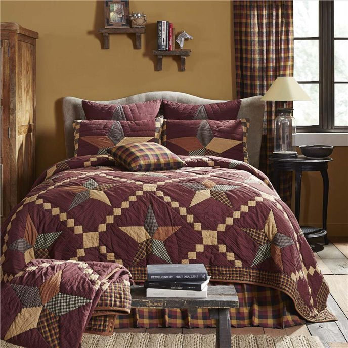 Folkways Star Luxury King Quilt 120Wx105L Thumbnail