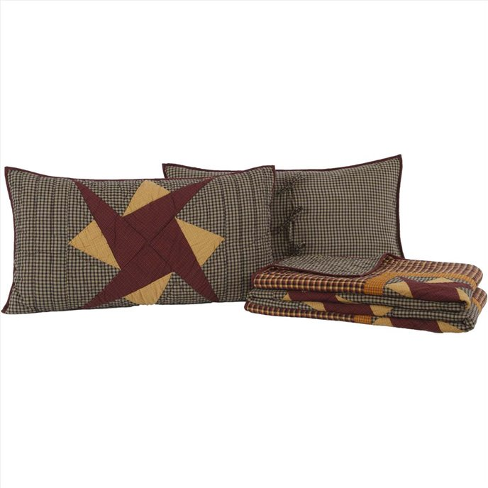 Folkways King Set; 1-Quilt 105Wx95L w/2 Shams 21x37 Thumbnail