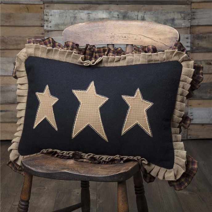 Heritage Farms Primitive Stars Pillow 14x22 Thumbnail