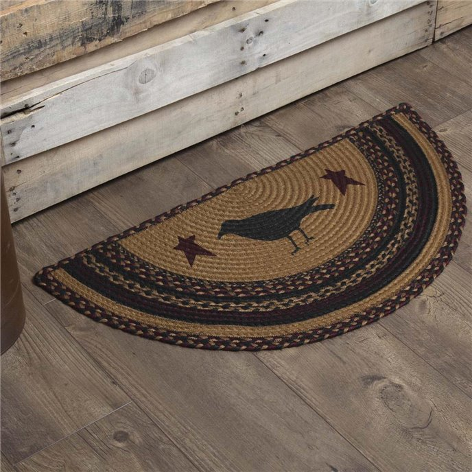 Heritage Farms Crow Jute Rug Half Circle 16.5x33 Thumbnail