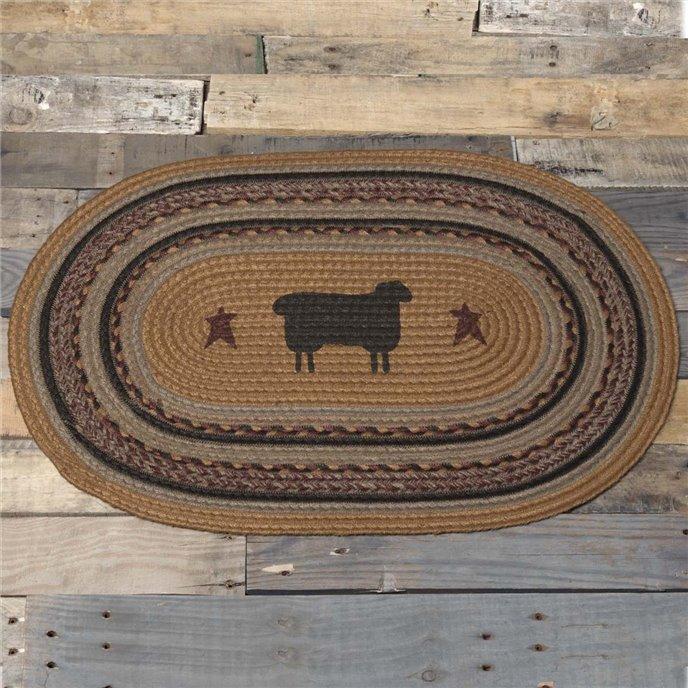 Heritage Farms Sheep Jute Rug Oval 20x30 Thumbnail