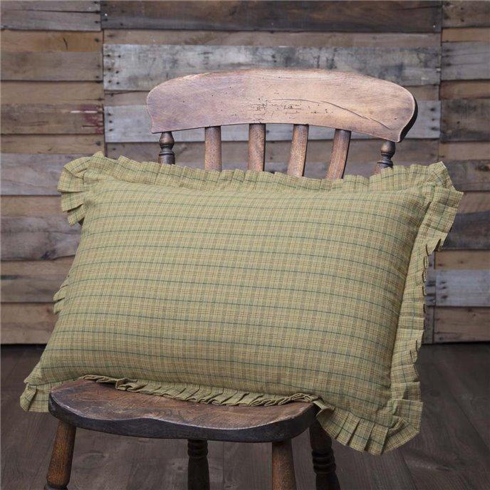 Tea Star Plaid Pillow 14x22 Thumbnail