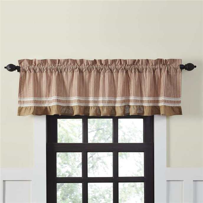 Kendra Stripe Red Valance 19x72 Thumbnail