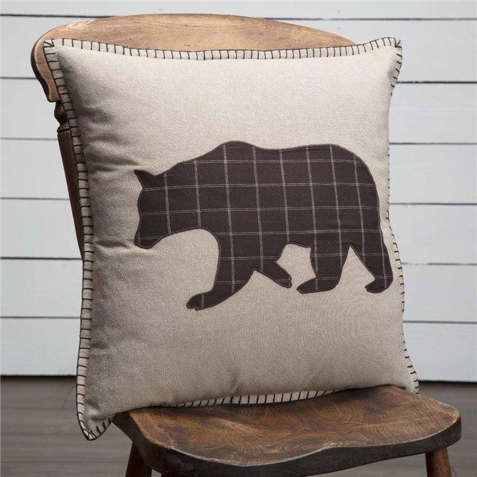 Wyatt Bear Applique Pillow 18x18 Thumbnail