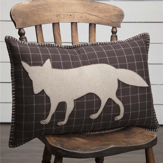 Wyatt Fox Applique Pillow 14x22 Thumbnail