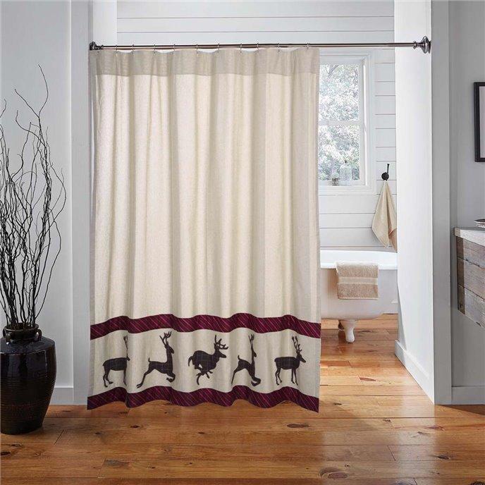 Wyatt Deer Shower Curtain 72x72 Thumbnail