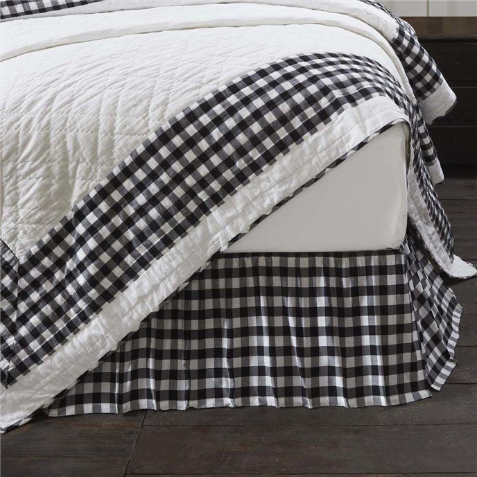 Annie Buffalo Black Check King Bed Skirt 78x80x16 Thumbnail