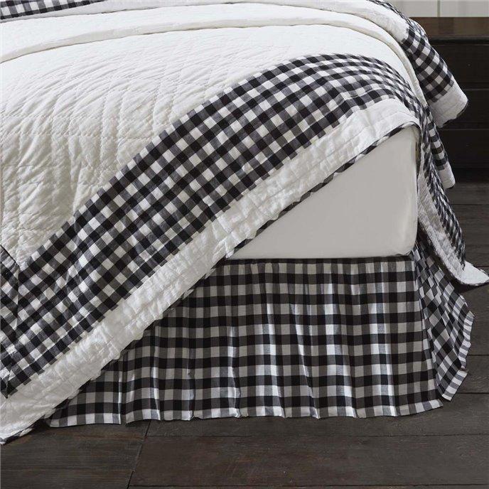 Annie Buffalo Black Check Twin Bed Skirt 39x76x16 Thumbnail