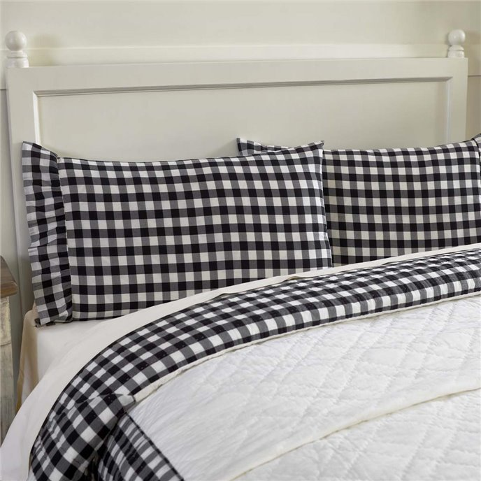 Annie Buffalo Black Check Standard Pillow Case Set of 2 21x30 Thumbnail