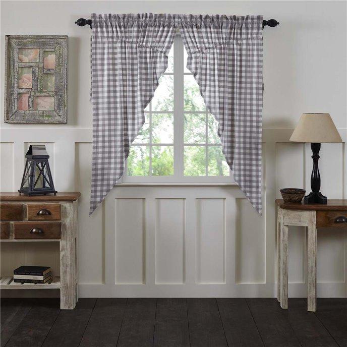 Annie Buffalo Grey Check Prairie Short Panel Set of 2 63x36x18 Thumbnail