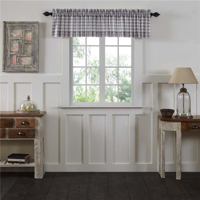 Annie Buffalo Grey Check Valance 16x90 Thumbnail