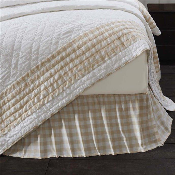Annie Buffalo Tan Check King Bed Skirt 78x80x16 Thumbnail