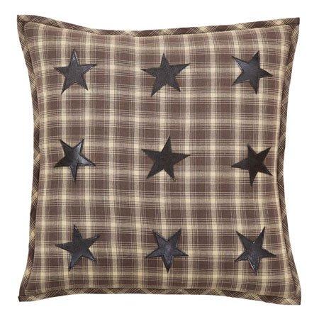 """Dawson Star Applique Pillow W/Down Fill 18""""x18"""" Thumbnail"""