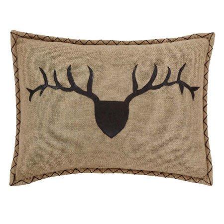 """Dawson Star Trophy Head Filled Pillow Applique 14""""x18"""" Thumbnail"""