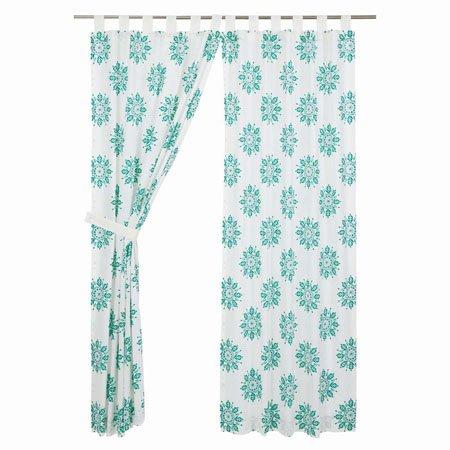 "Mariposa Turquoise Panel Set of 2 84""x40"" Thumbnail"