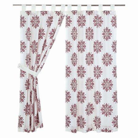 "Mariposa Fuchsia Short Panel Set of 2 63""x36"" Thumbnail"