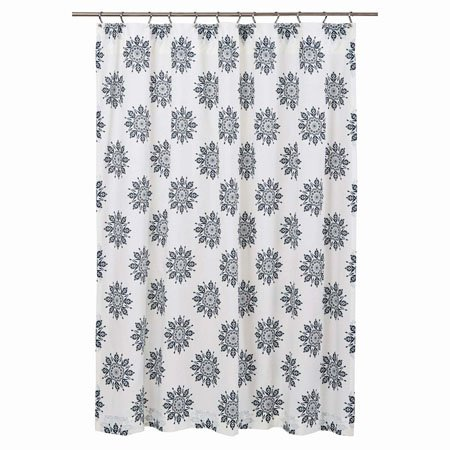 Mariposa Indigo Shower Curtain Thumbnail