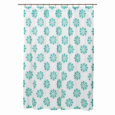 Mariposa Turquoise Shower Curtain Thumbnail