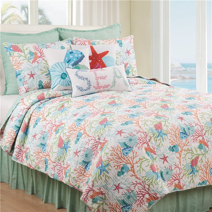 Caribbean Splash 2 Piece Twin Quilt Set Thumbnail
