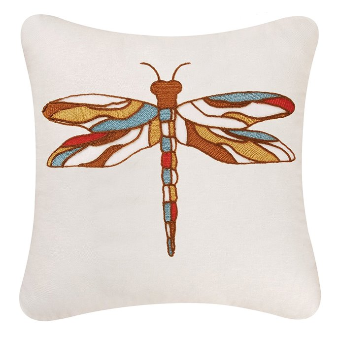 Dragonfly Chain Stitch Pillow Thumbnail