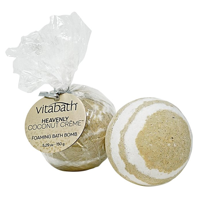 Vitabath Heavenly Coconut Creme Foaming Bath Bomb(5.29 oz) Thumbnail
