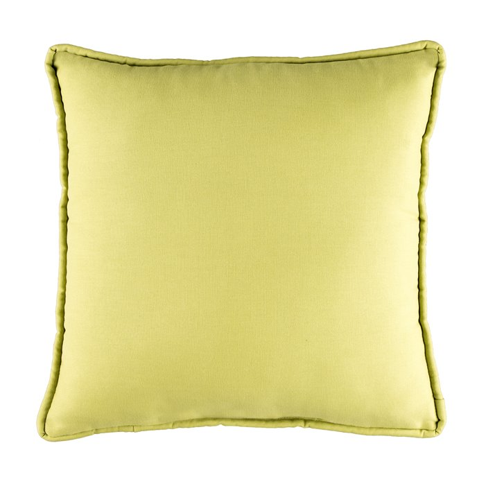 Provence Poppy Green Square Pillow Thumbnail