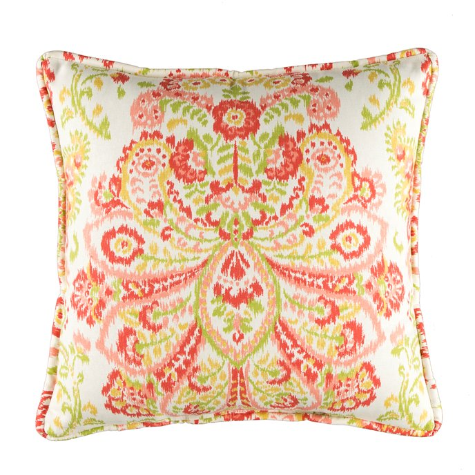 Provence Poppy Printed Square Pillow Thumbnail