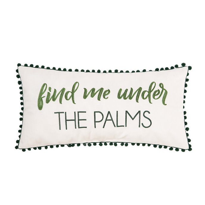 Find Me Under the Palms Pillow Thumbnail