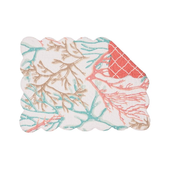 Oceanaire Seafoam Rectangular Quilted Placemat Thumbnail