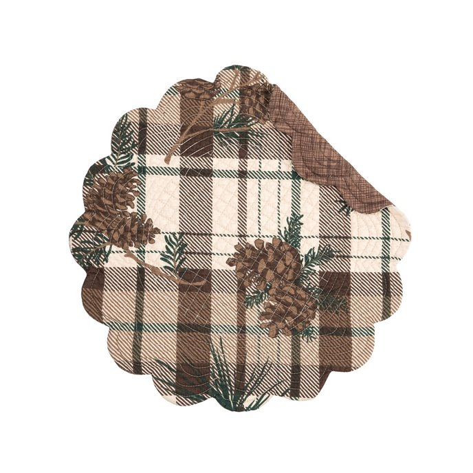 Lookout Lodge Round Quilted Placemat Thumbnail