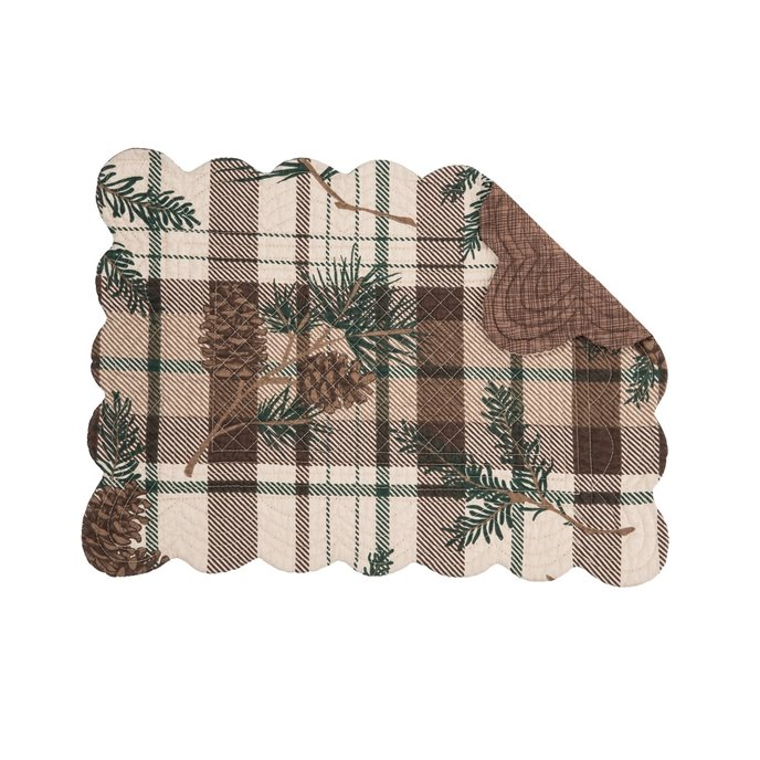 Lookout Lodge Rectangular Quilted Placemat Thumbnail