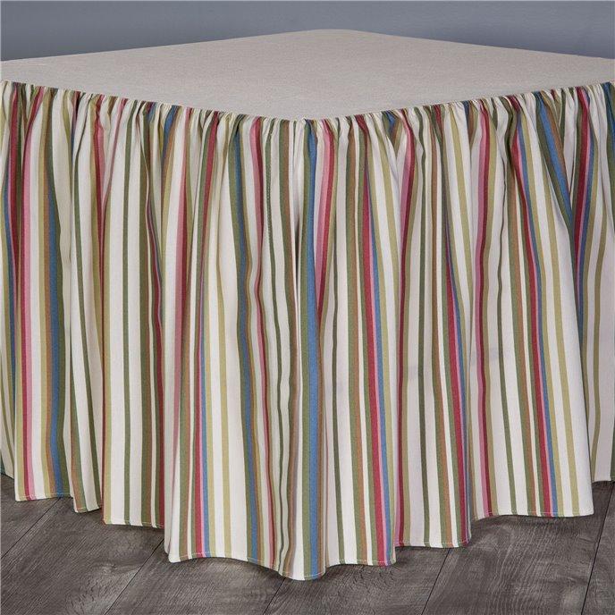 """Hillhouse Stripe Cal King 18"""" Bed skirt Thumbnail"""