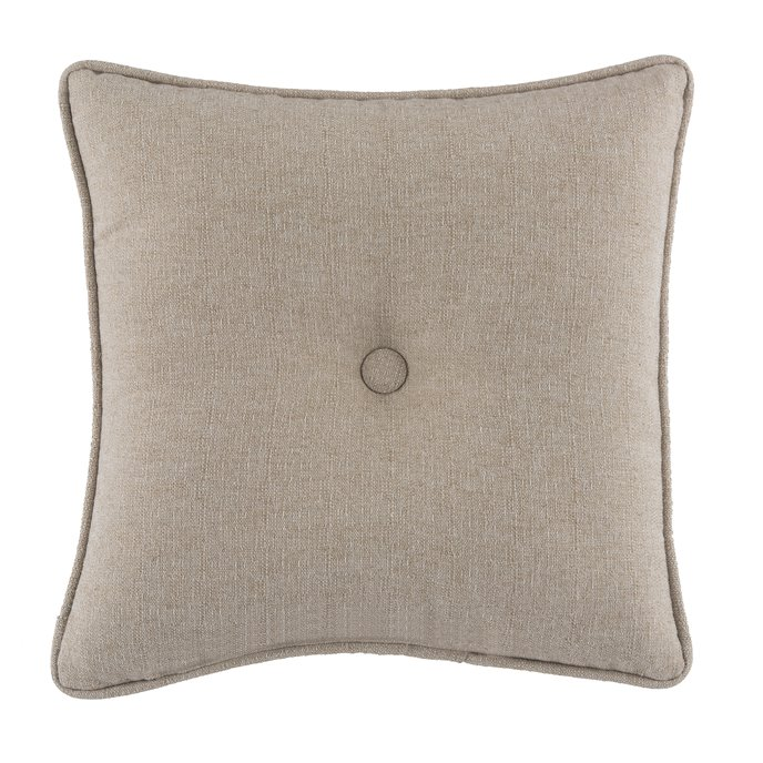 Seaside Treasures Caribbean Solid Square Pillow - Textured Beige Thumbnail