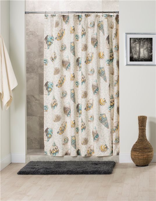 Seaside Treasures Caribbean Shower Curtain Thumbnail