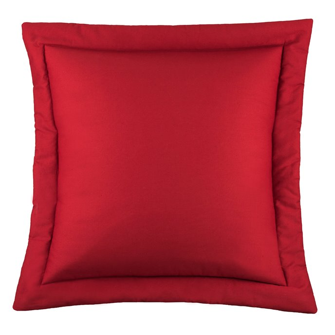 West Bay Solid Euro Sham - Red Thumbnail