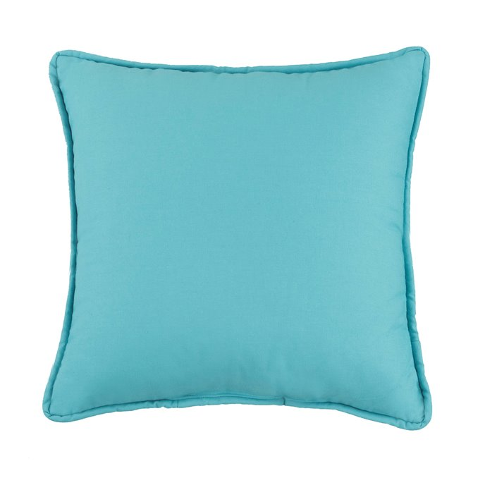 West Bay Solid Square Pillow - Teal Thumbnail